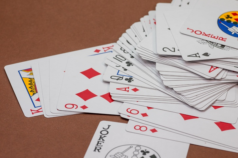 Many playeble cards on table